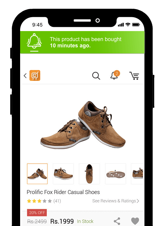 Notification how many people have bought a given product